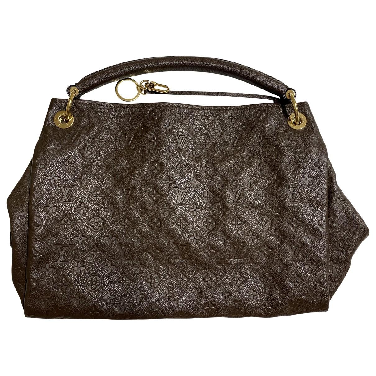 Louis Vuitton - Sac a main Artsy pour femme en cuir - marron