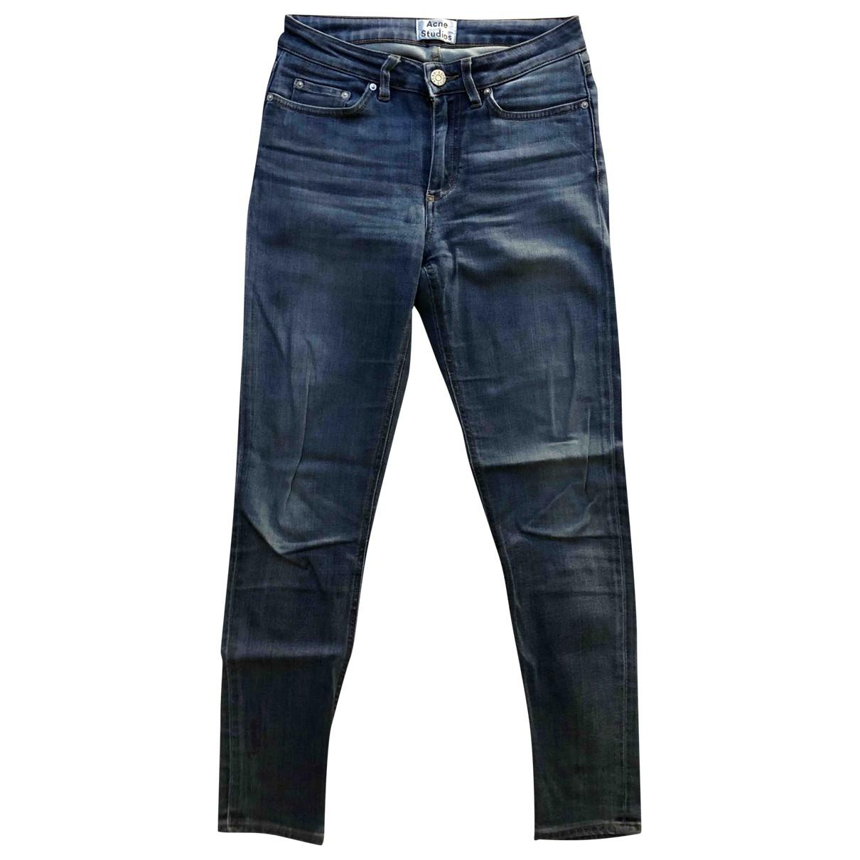 Acne Studios Skin 5 Jeans in  Blau Baumwolle - Elasthan