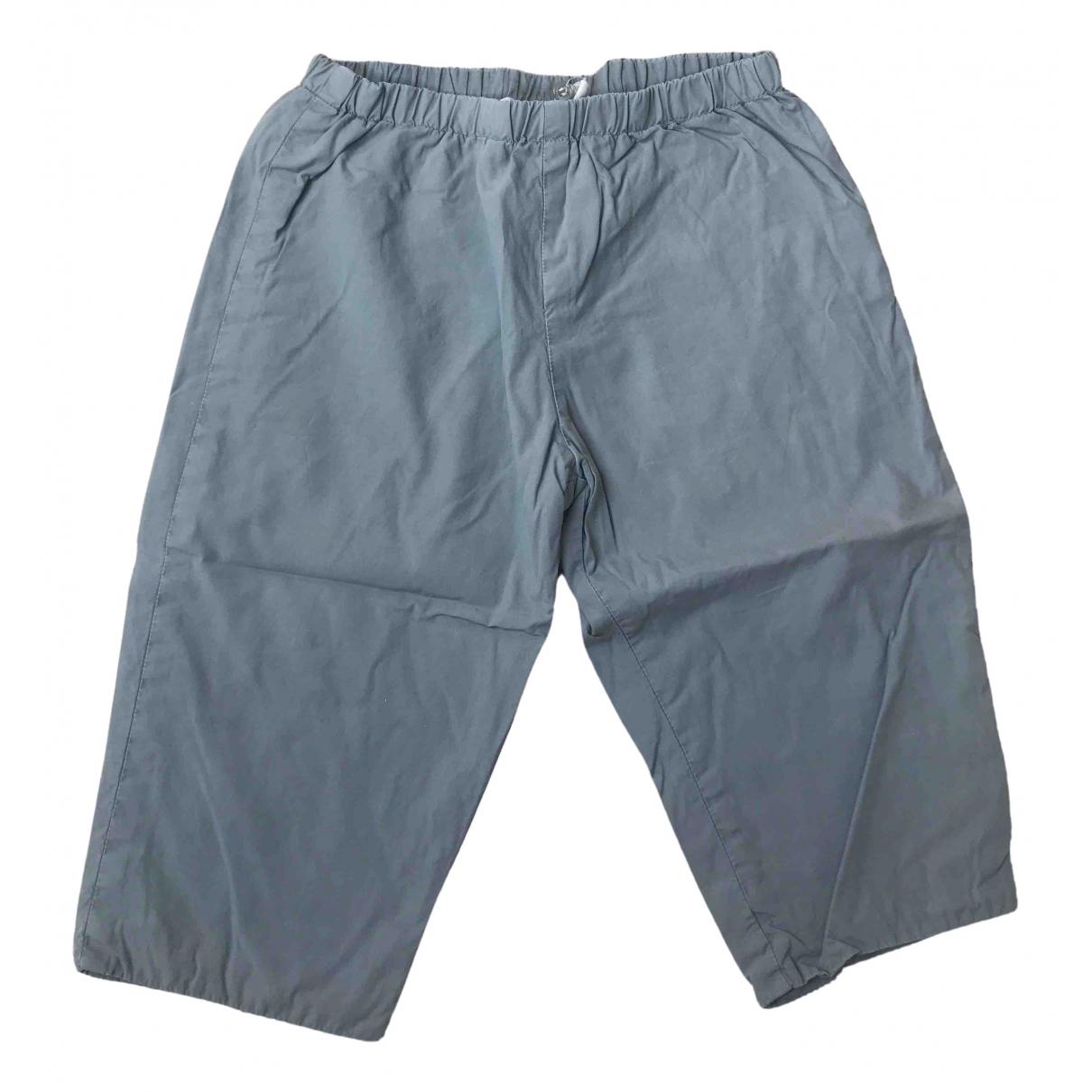 Pantalones en Algodon Gris Bonpoint