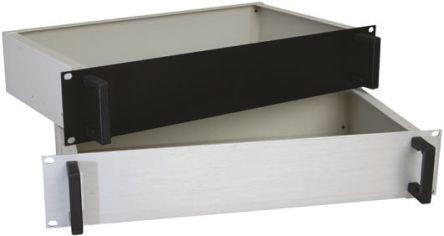 RS PRO , 3U Rack Mount Case, 133 x 483 x 350mm, Black