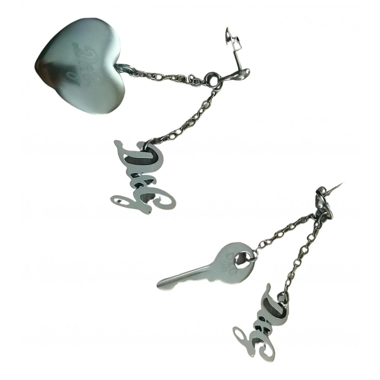 D&g - Boucles doreilles   pour femme en metal - argente