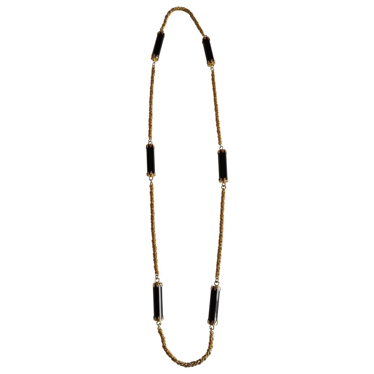 Roberto Cavalli \N Black Metal Long necklace for Women \N