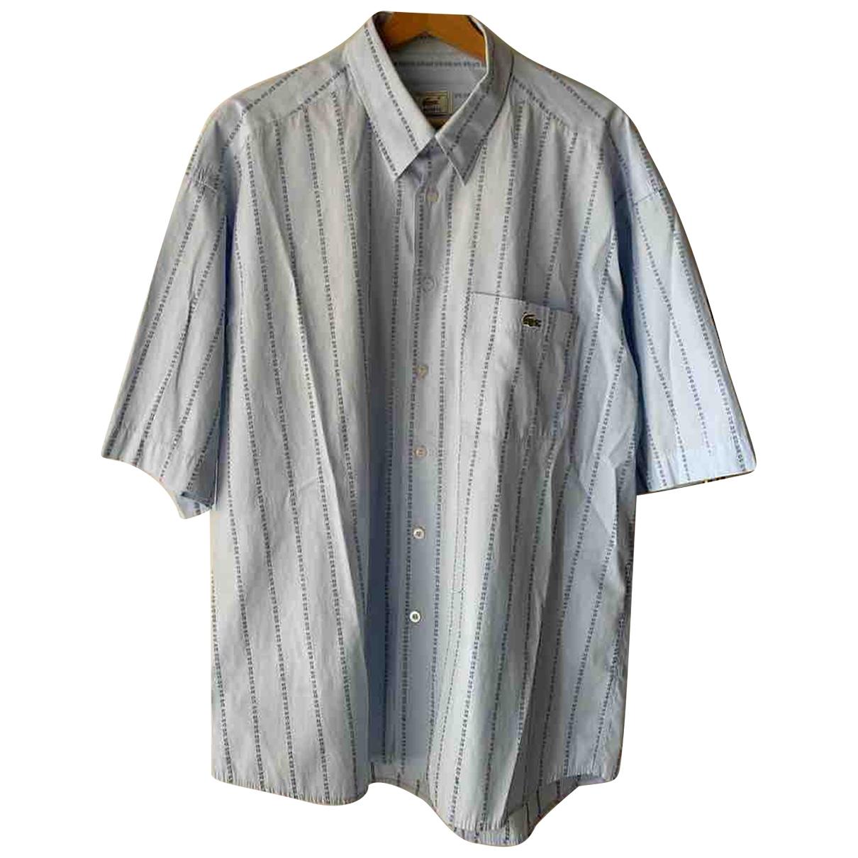 Lacoste - Chemises   pour homme en coton - marine