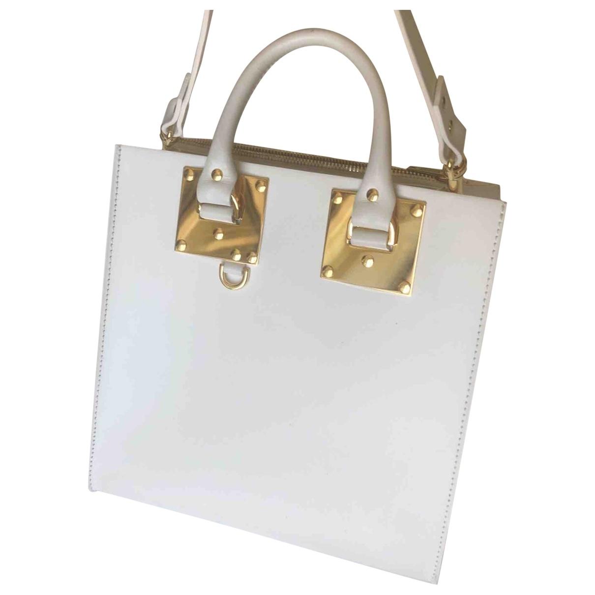 Sophie Hulme \N White Leather handbag for Women \N