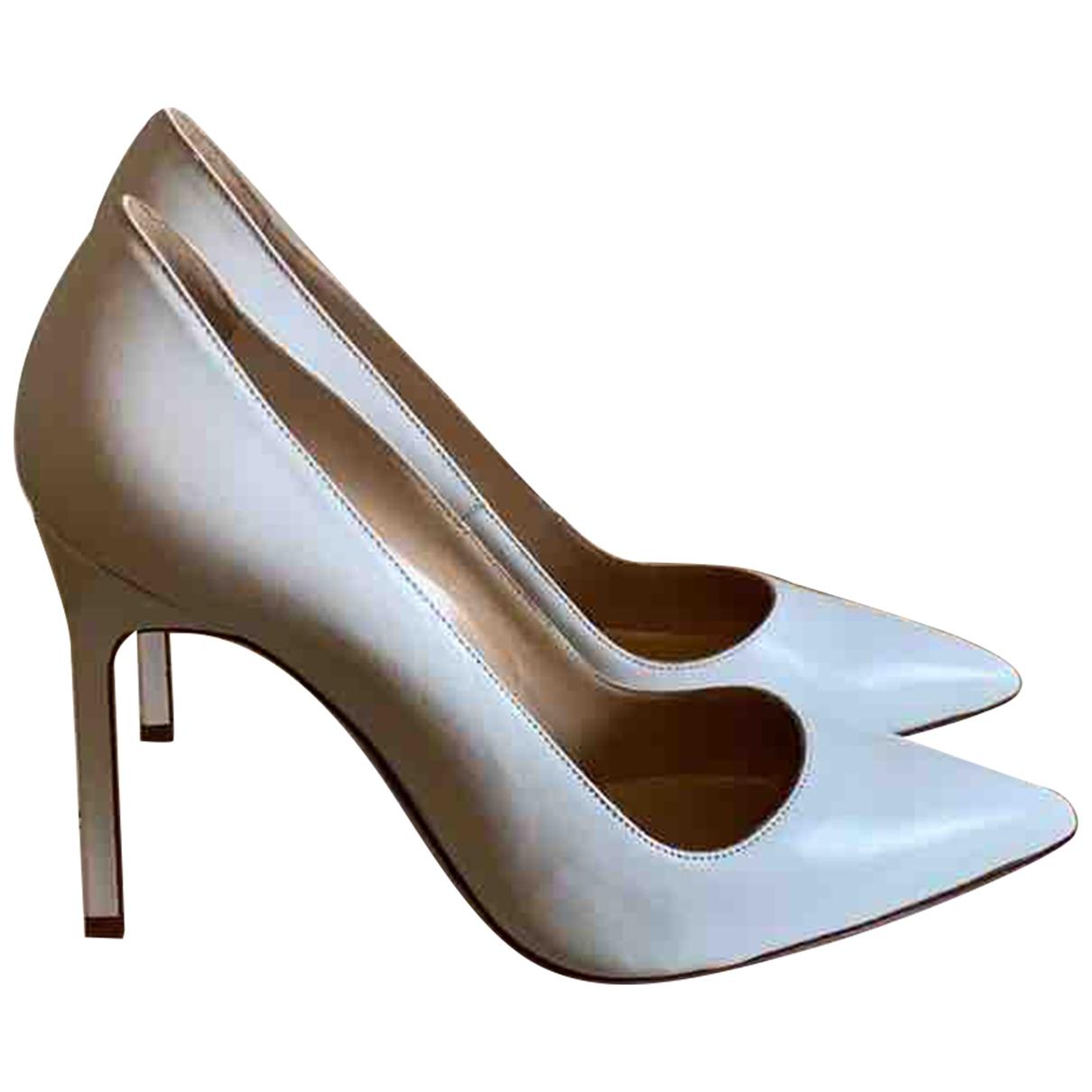 Manolo Blahnik - Escarpins   pour femme en cuir - blanc