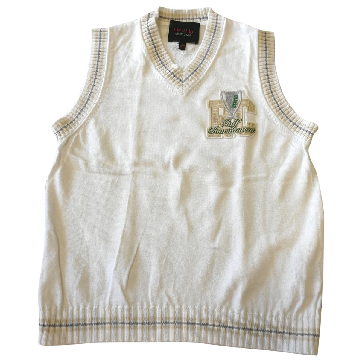 Roberto Cavalli \N White Cotton Knitwear for Kids 5 years - up to 108cm FR