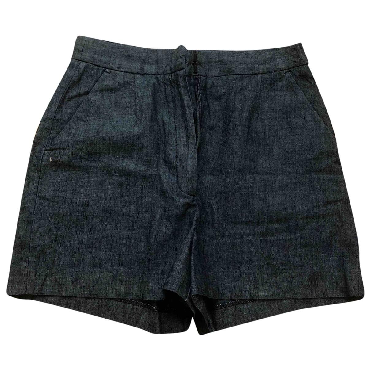 Masscob \N Blue Cotton Shorts for Women 36 FR