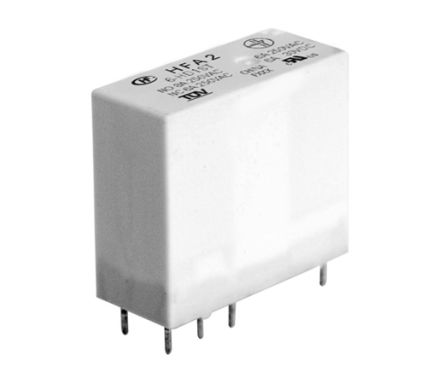 Hongfa Europe GMBH , 48V dc Coil Non-Latching Relay SPDT, 8A Switching Current PCB Mount Single Pole (40)