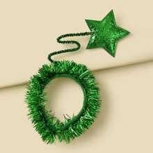 Aro de pelo con diseño de estrella de Navidad