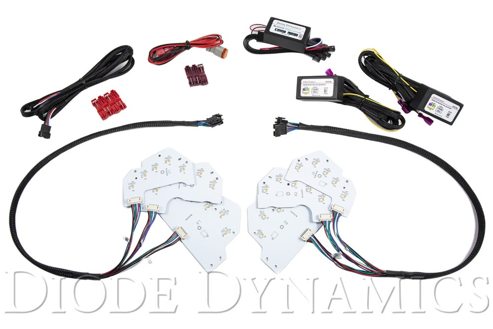 Diode Dynamics DD2254 Mustang 2018 RGBWA DRL LED Boards EU