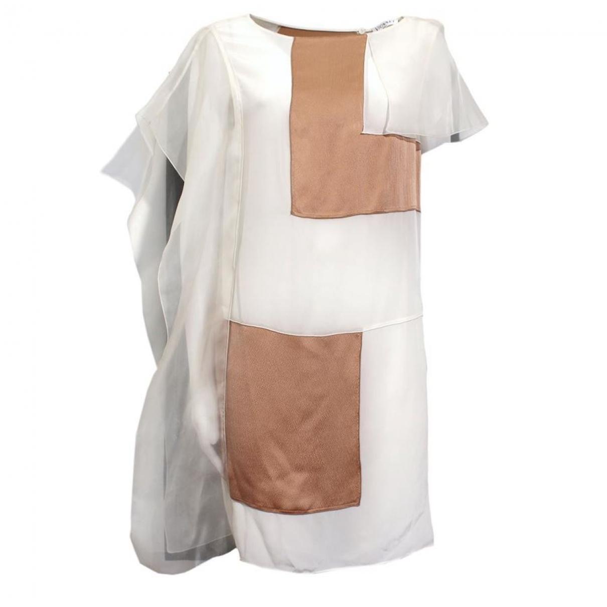 Vionnet \N Kleid in  Beige Seide