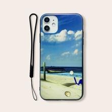 Funda de iphone con patron de playa con tira