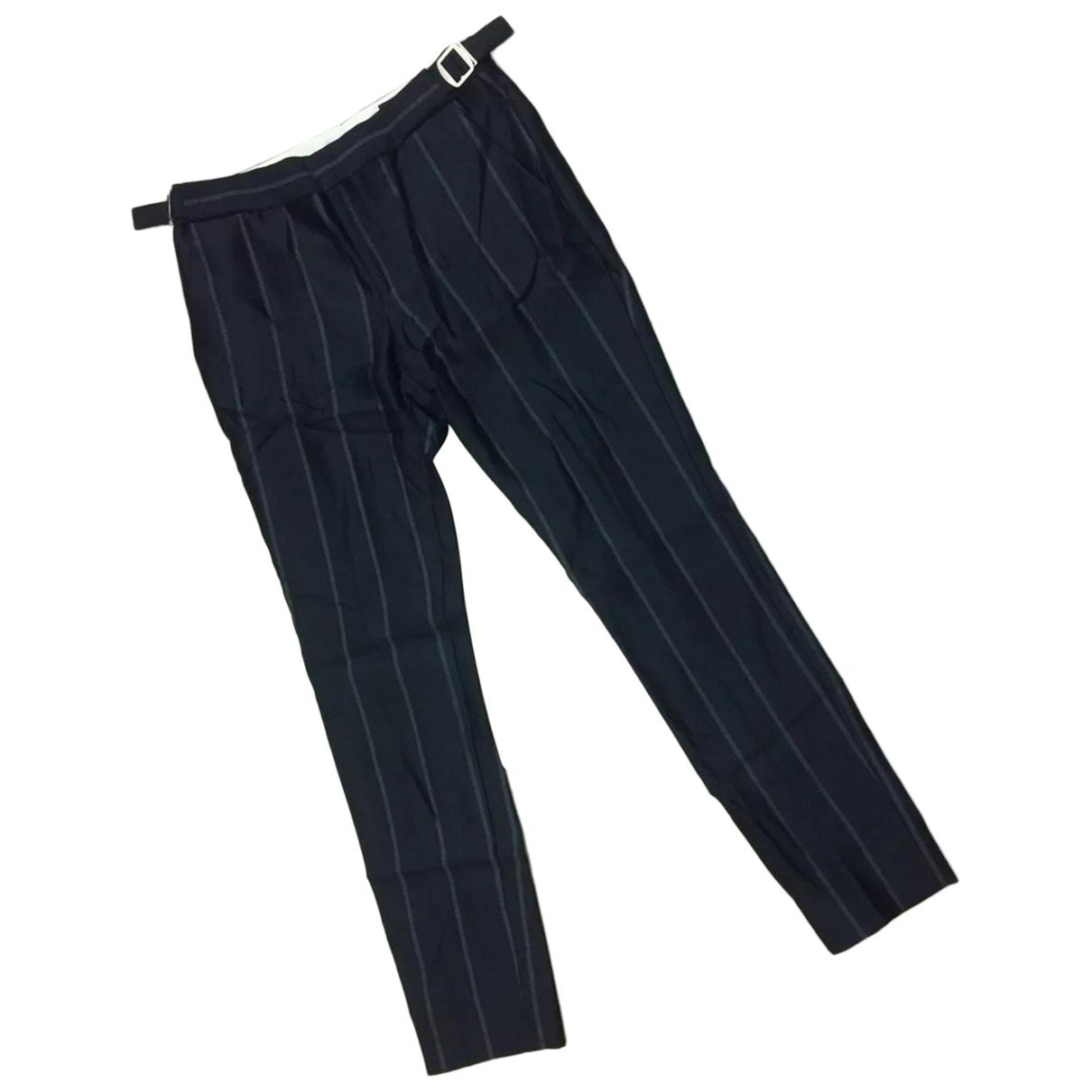 Gucci \N Blue Wool Trousers for Women 38 IT