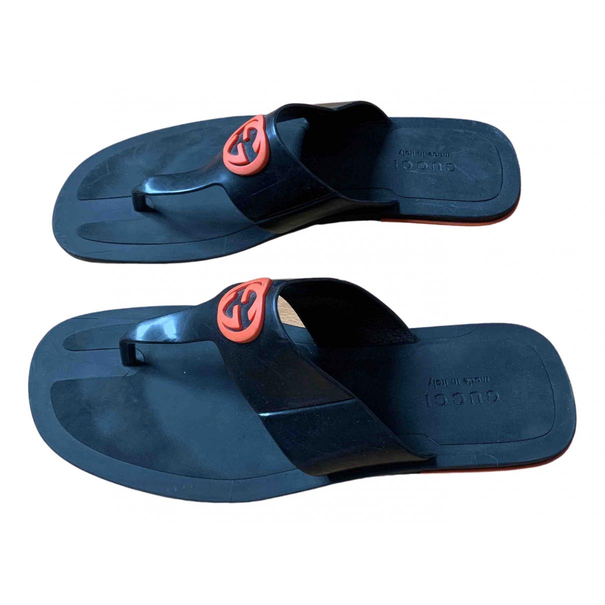 Gucci N Black Sandals for Men 44 EU