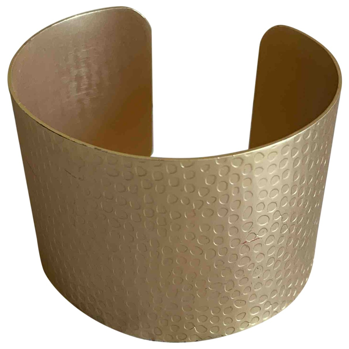 Non Signe / Unsigned Manchette Armband in  Gold Metall