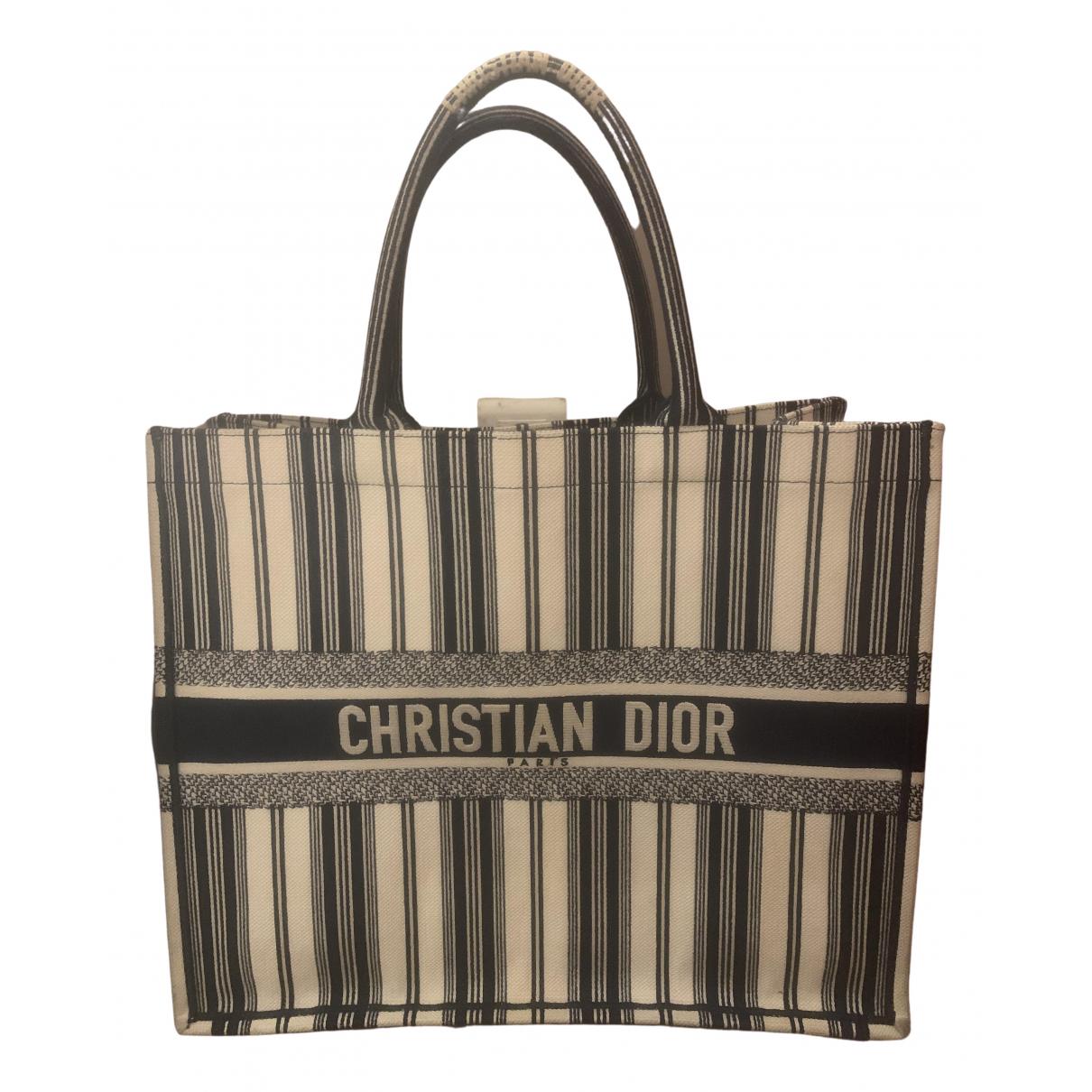 Dior Book Tote Blue Cloth handbag for Women N