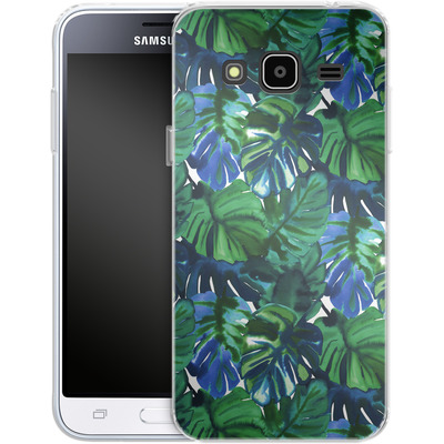 Samsung Galaxy J3 (2016) Silikon Handyhuelle - Welcome to the Jungle Palm Deep von Amy Sia