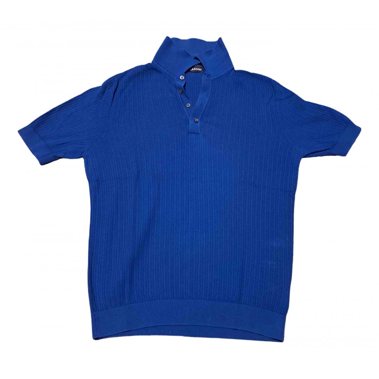Lardini - Polos   pour homme en coton - bleu