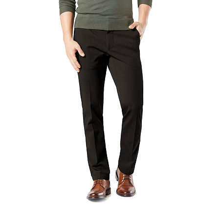 Dockers Men's Straight Fit Workday Khaki Smart 360 Flex Pants D2, 32 30, Black