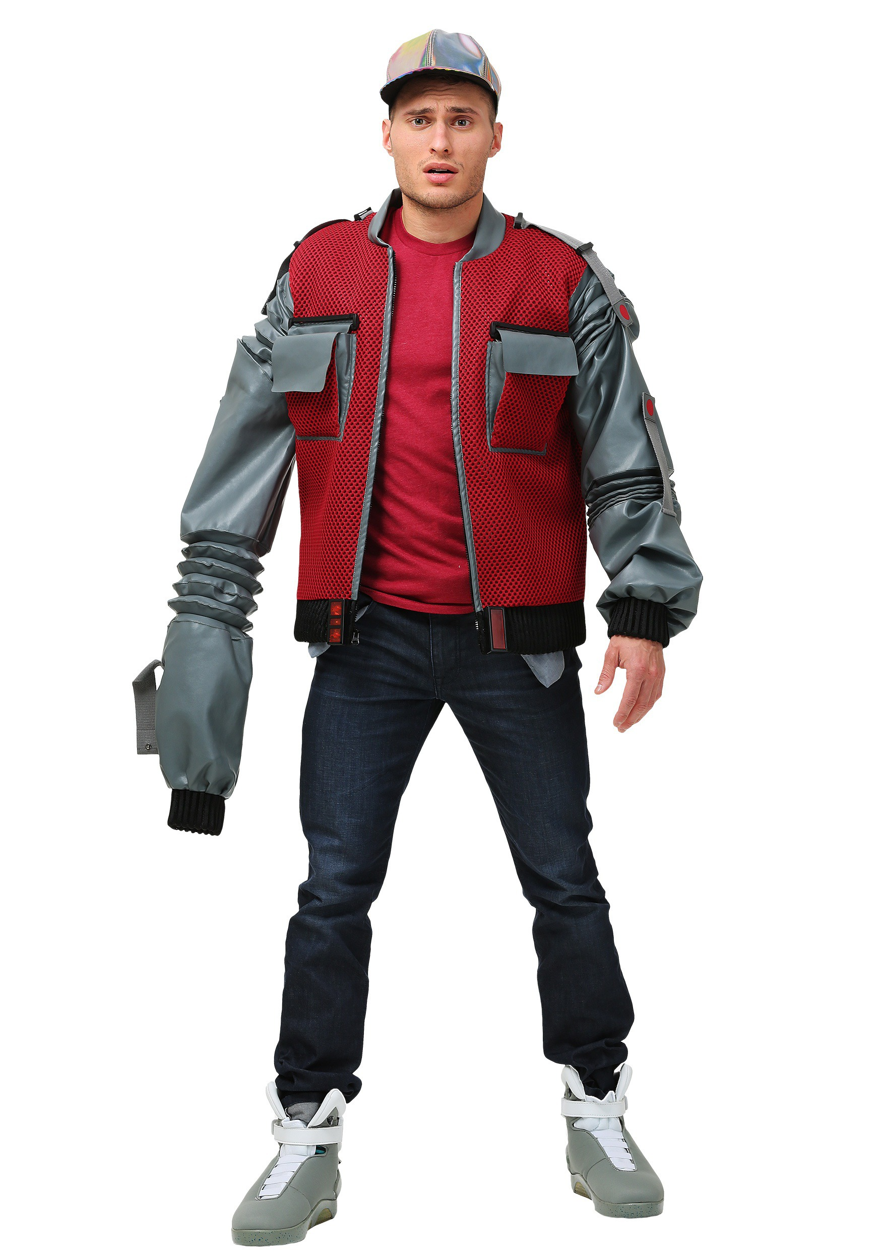 Men's Plus Size Authentic Marty McFly Jacket Costume from Back to the Future