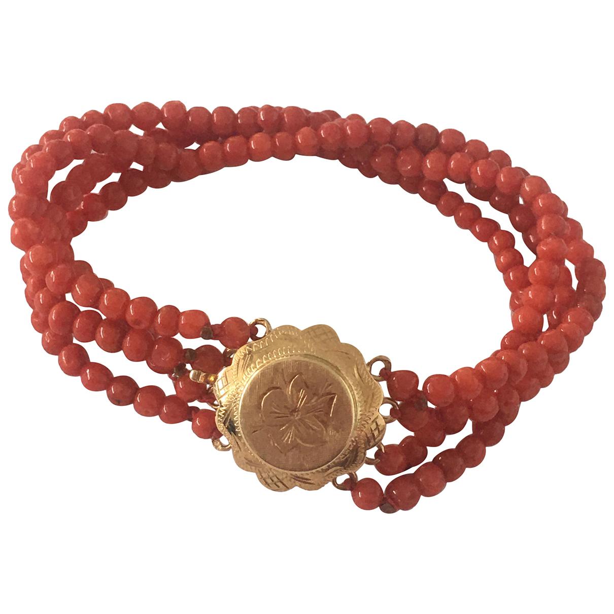 - Bracelet Corail pour femme en or jaune - rouge