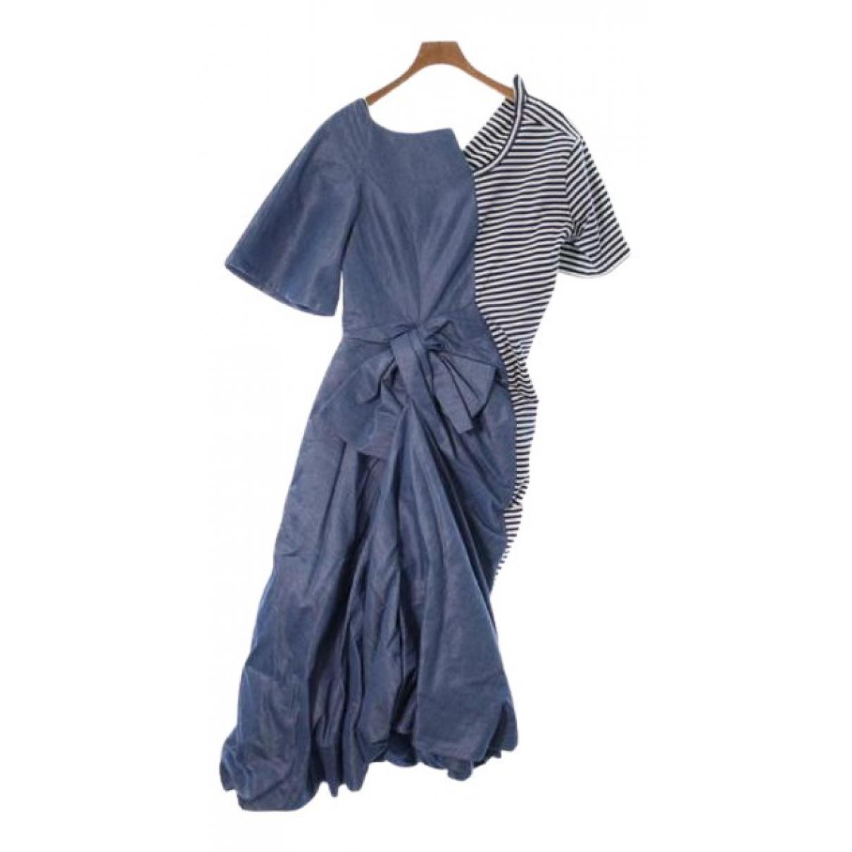 Junya Watanabe \N Kleid in  Blau Baumwolle
