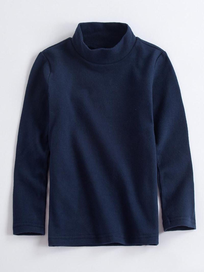 Ericdress Plain Turtleneck Hedging Boys & Girls T-Shirt