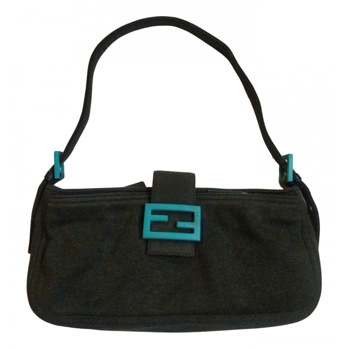 Fendi Baguette Turquoise Cloth handbag for Women N