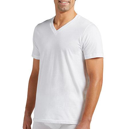 Jockey 2 Pack Classic V-Neck T-shirt - Big & Tall, Large Tall , White