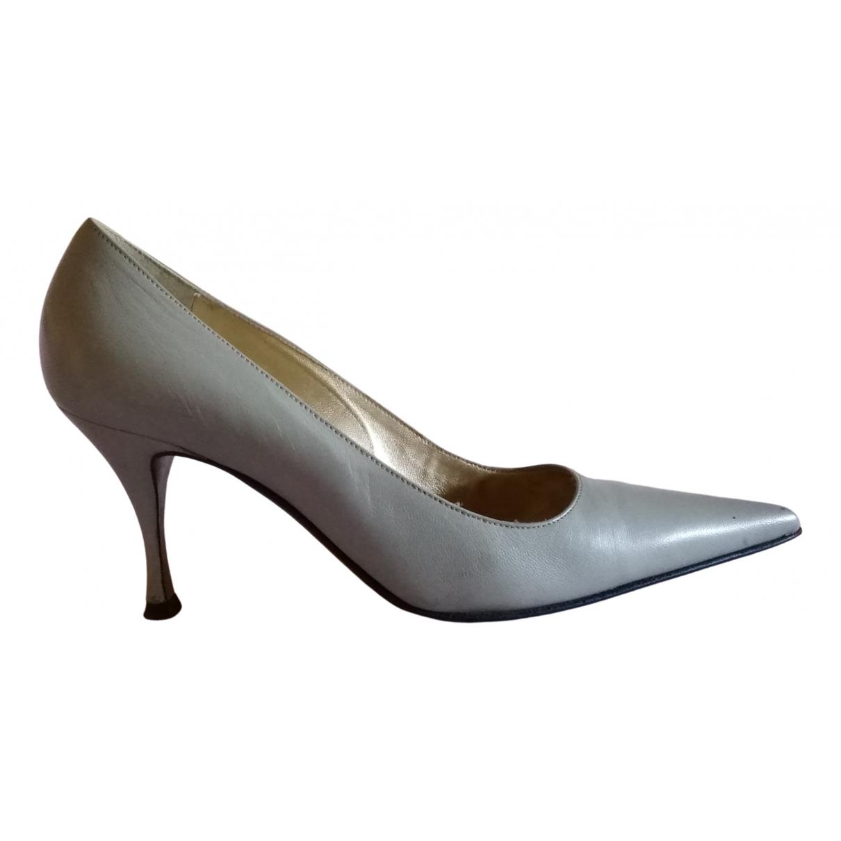 Dolce & Gabbana - Escarpins   pour femme en cuir - gris