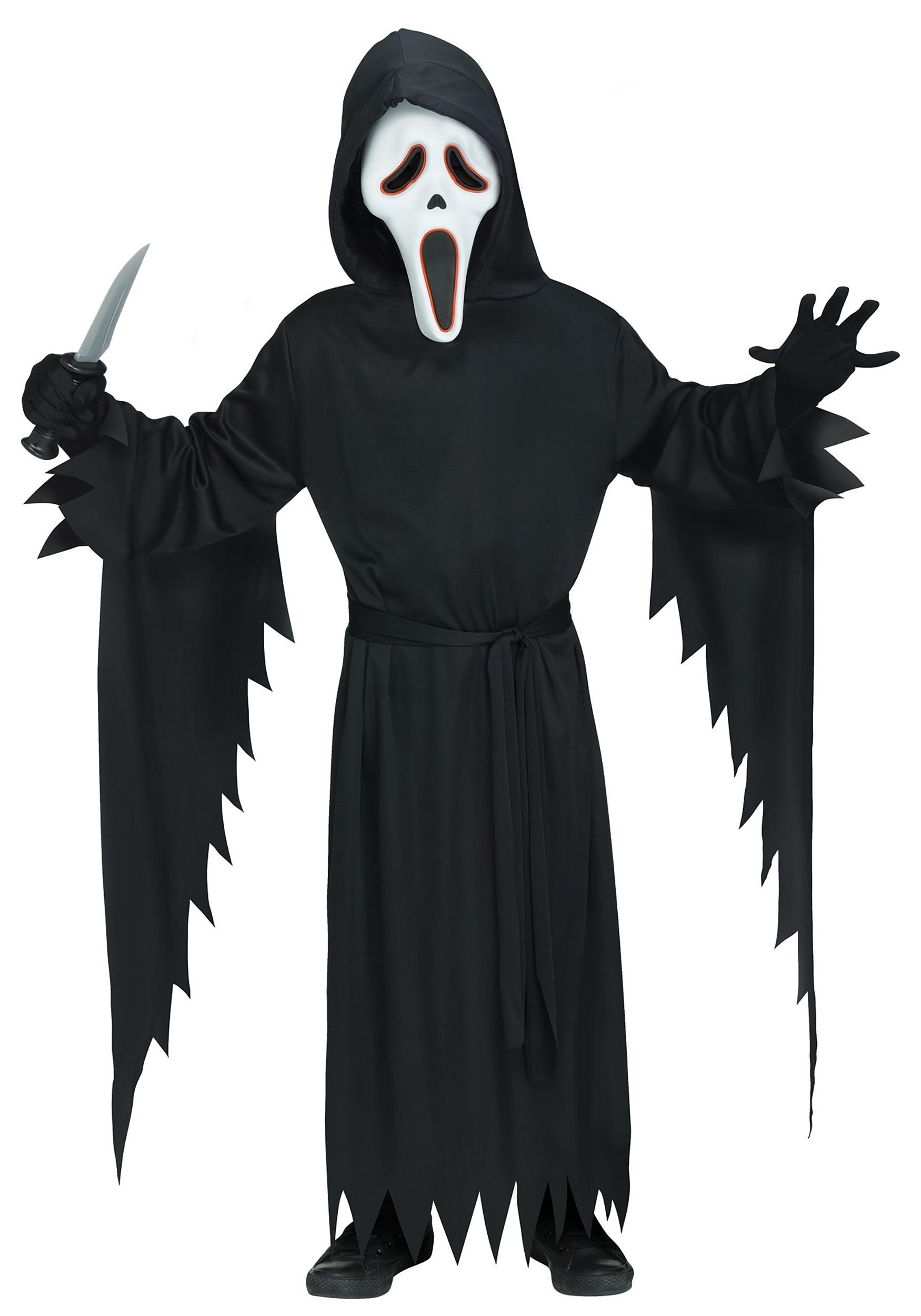 E.L Ghost Face Men's Costume