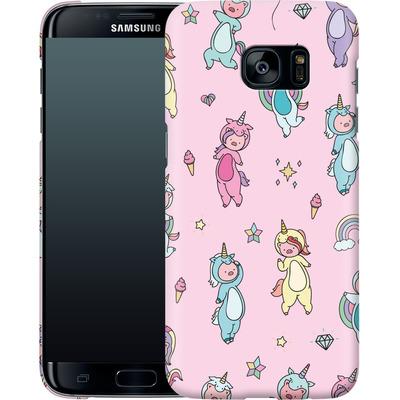 Samsung Galaxy S7 Edge Smartphone Huelle - Piggy Unicorns von Chan-chan