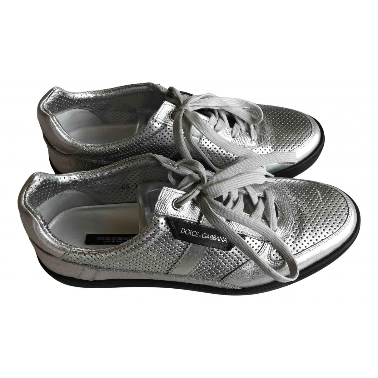 Dolce & Gabbana \N Sneakers in  Silber Leder
