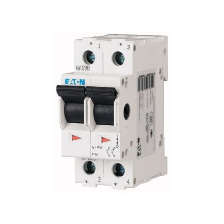 Eaton 2 Pole DIN Rail Switch Disconnector - 63 A Maximum Current, IP40