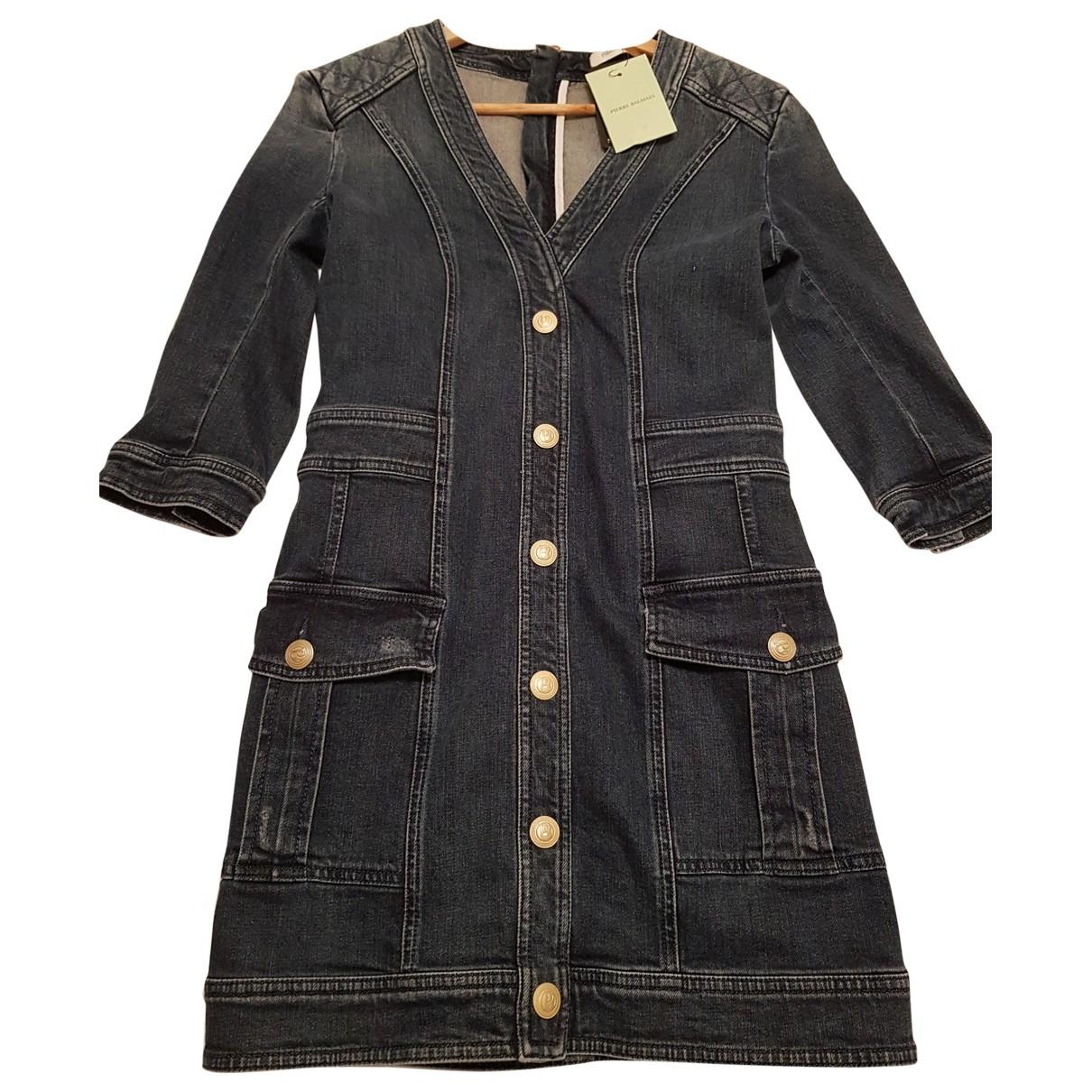 Pierre Balmain \N Blue Cotton dress for Women 40 FR