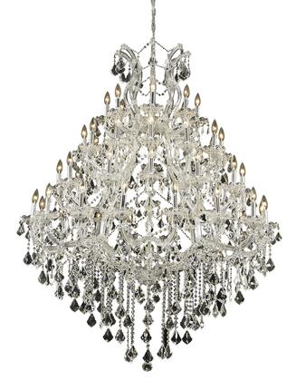 2800G46C/SS 2800 Maria Theresa Collection Large Hanging Fixture D46in H62in Lt: 48+1 Chrome Finish (Swarovski Strass/Elements