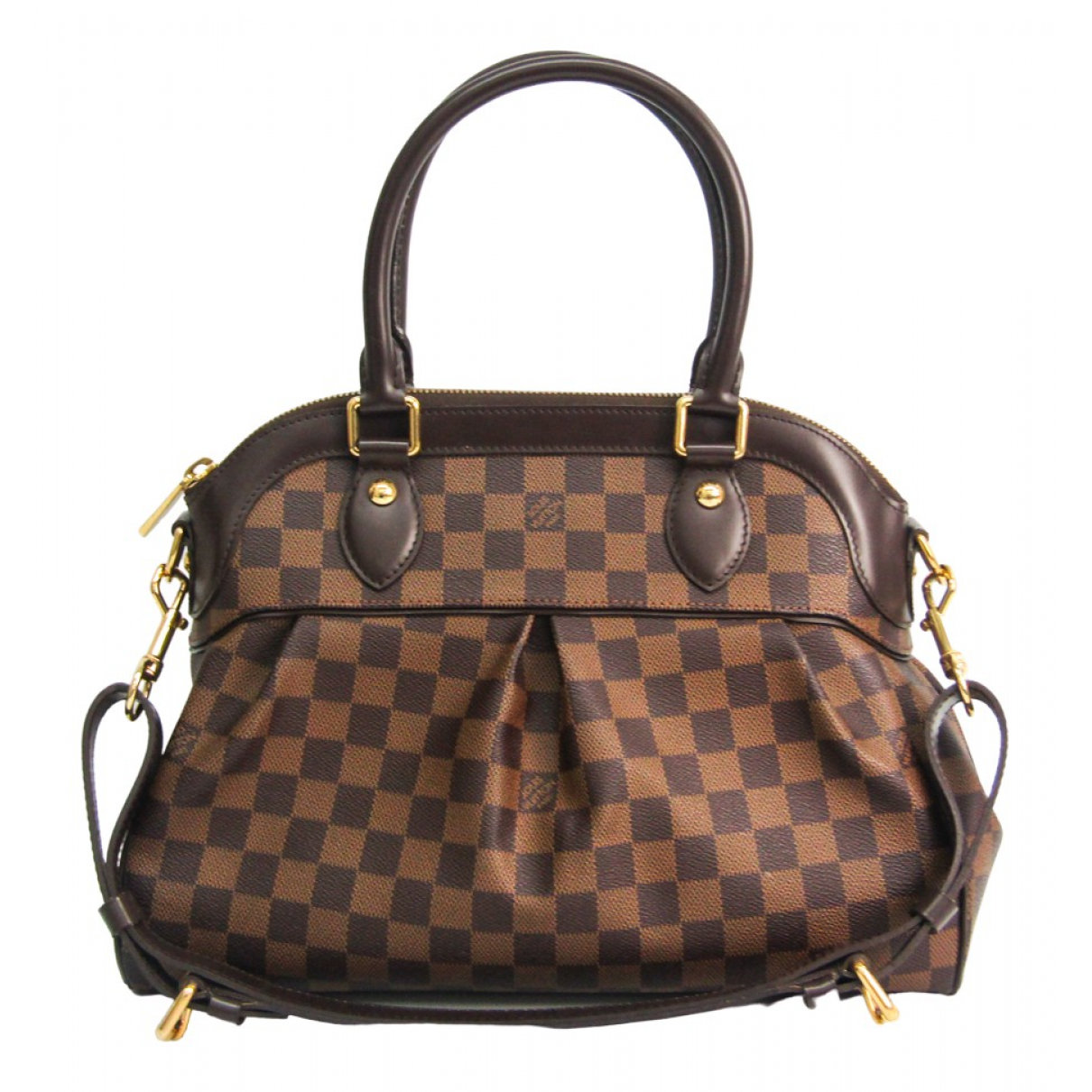 Louis Vuitton Trevi Handtasche in  Braun Leinen