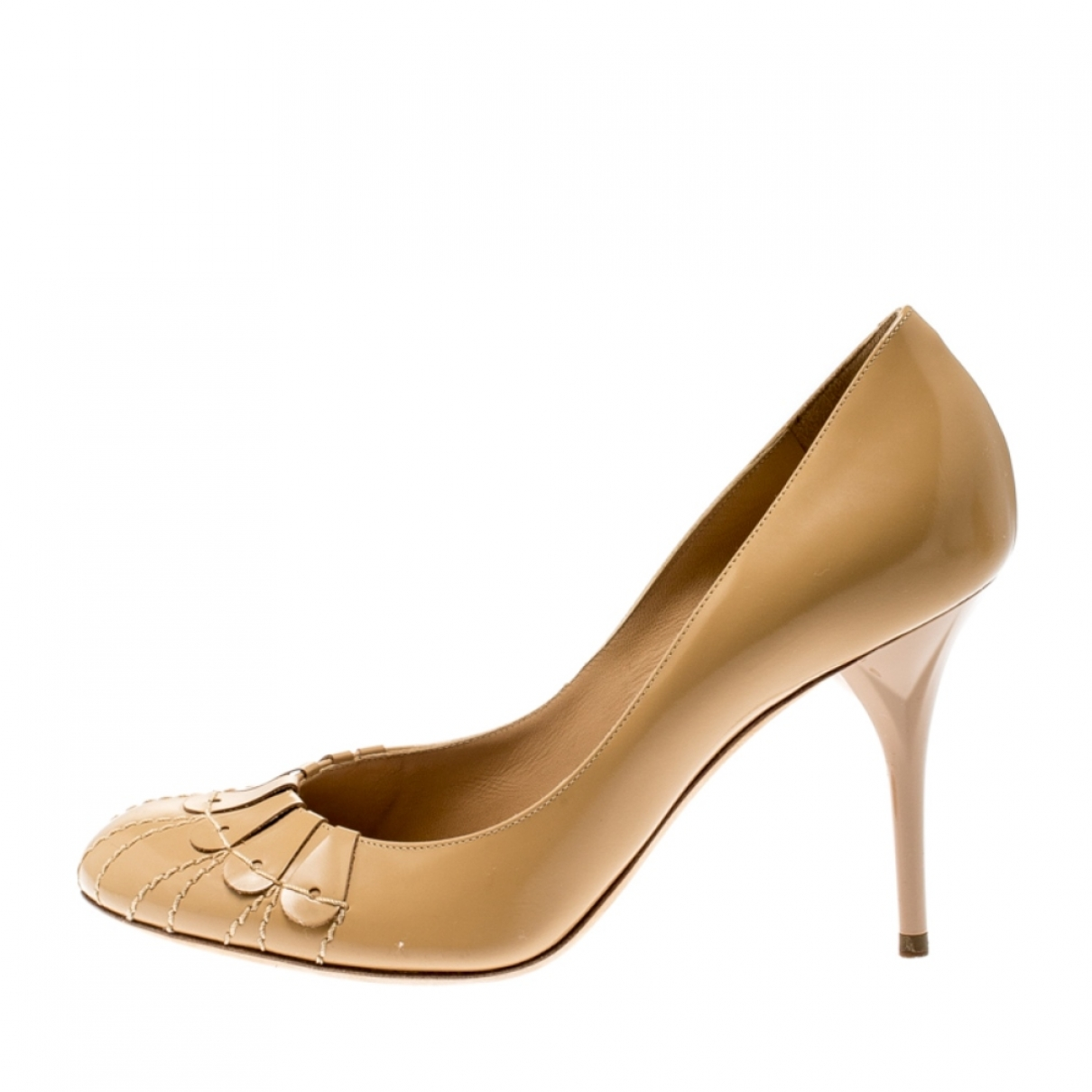 Dior \N Beige Leather Heels for Women 6.5 US