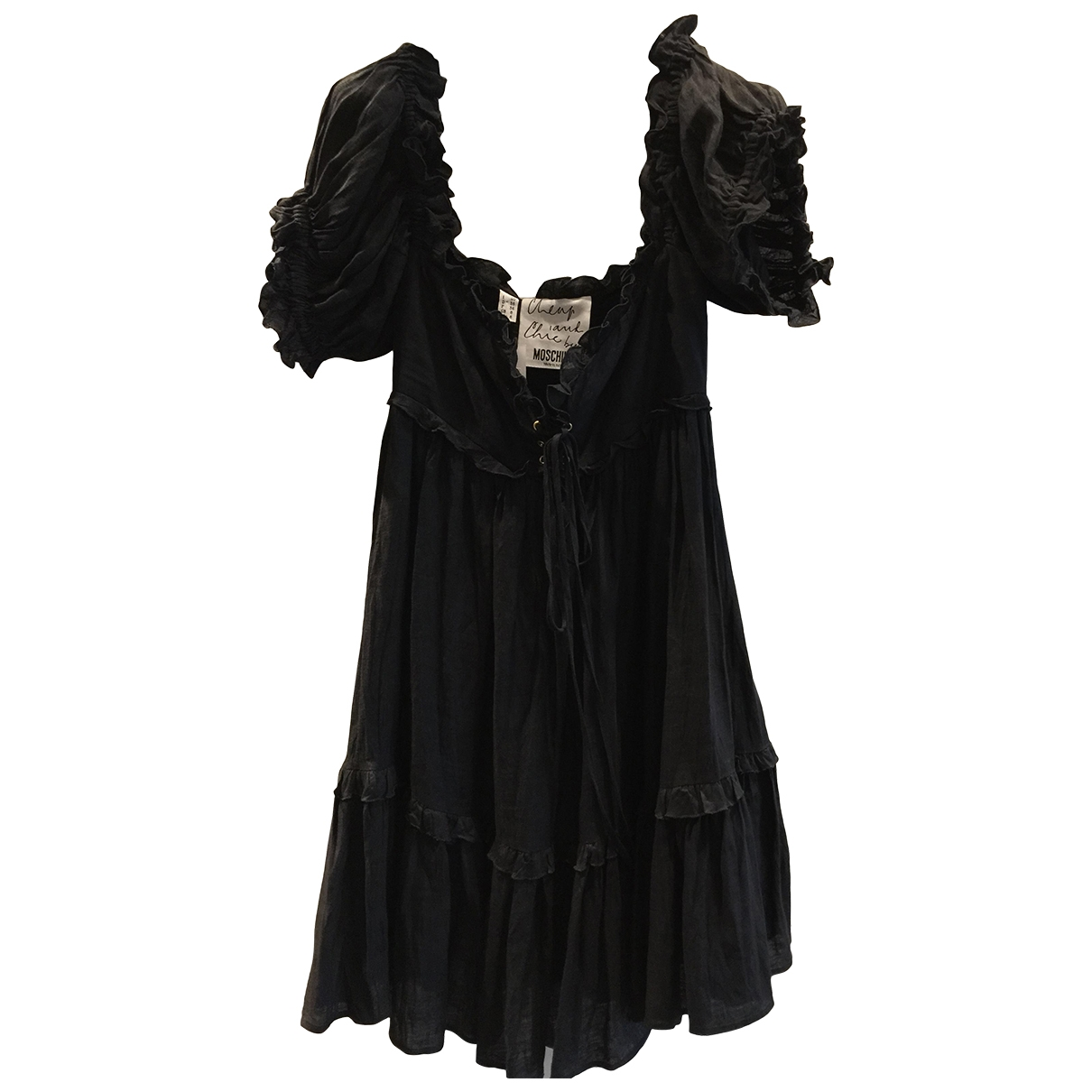 Moschino Cheap And Chic \N Kleid in  Schwarz Leinen