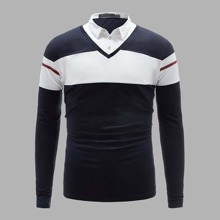 Guys 2 In 1 Colorblock Polo Shirt