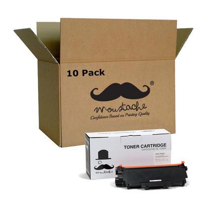 Compatible Brother TN-630 cartouche de toner noire - Moustache@ - 10/paquet