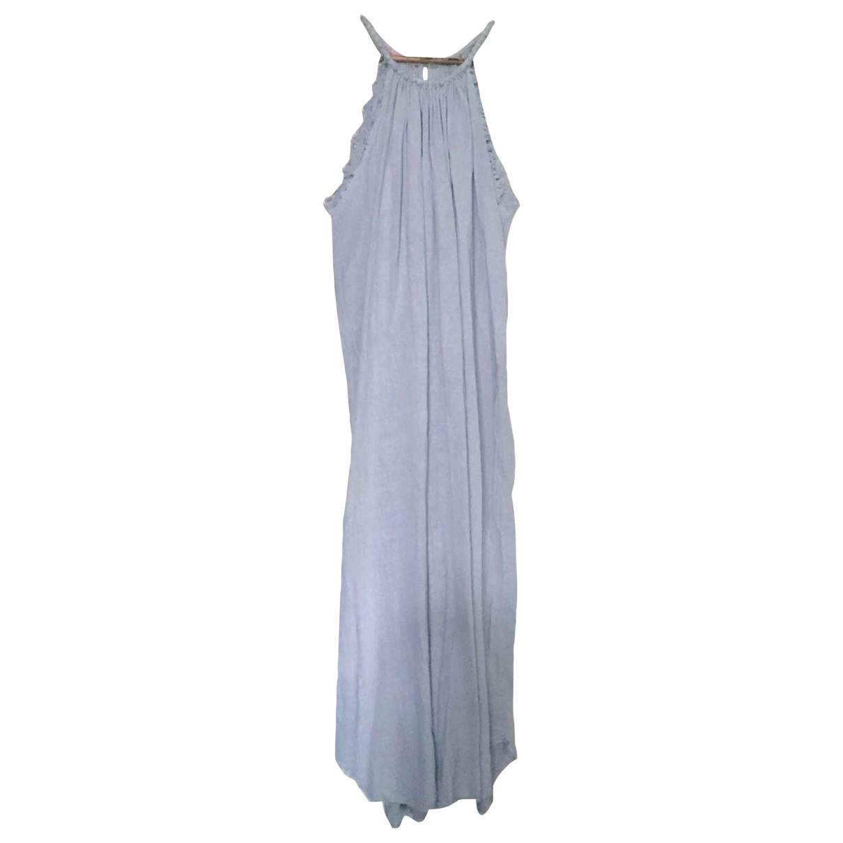 Non Signé / Unsigned \N Grey Linen dress for Women One Size FR