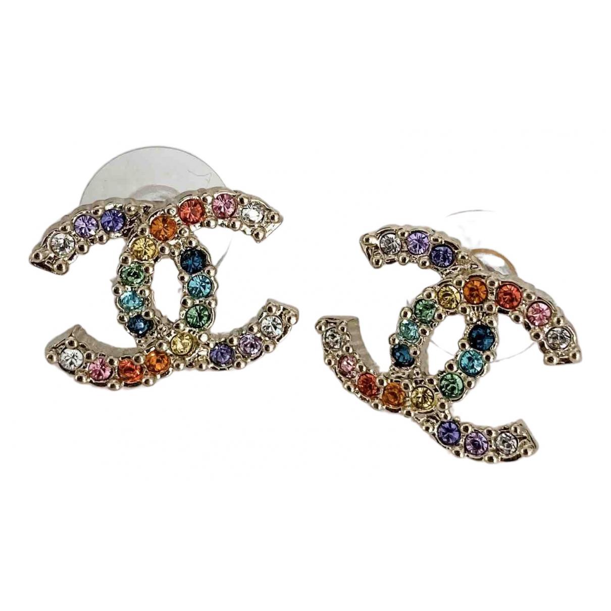 Chanel CC OhrRing in  Bunt Vergoldet