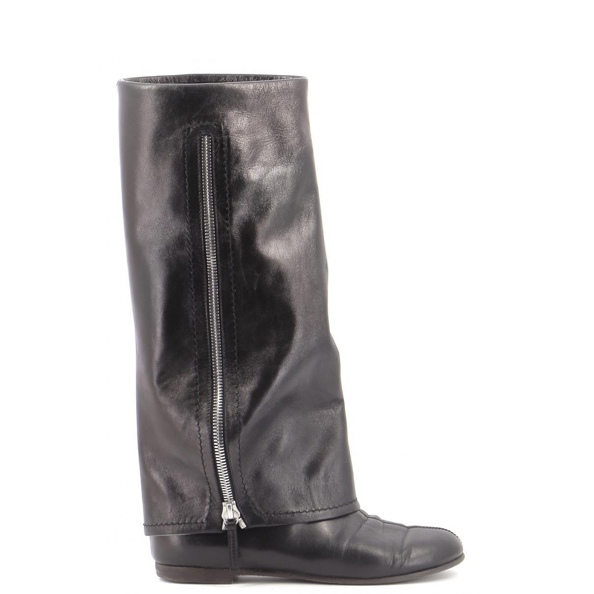 Giambattista Valli - Bottes   pour femme en cuir - noir