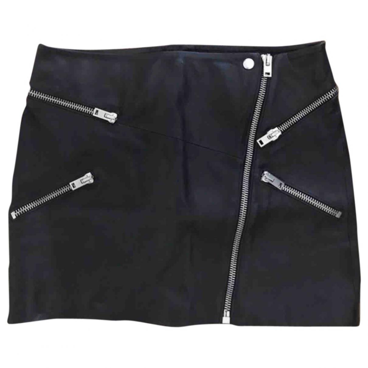 The Kooples \N Black Leather skirt for Women 38 FR