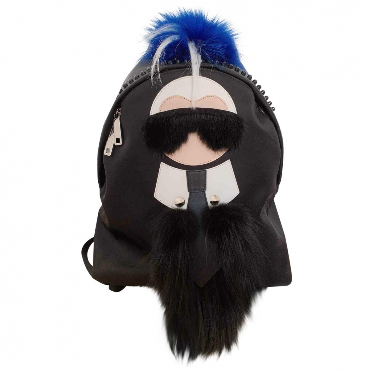 Fendi - Sac a dos   pour femme en toile - noir