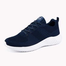 Guys Lace Up Front Knit Sneakers