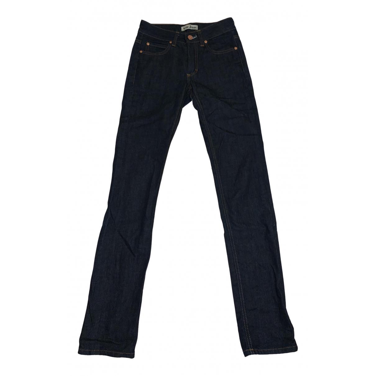 Acne Studios Hex Blue Cotton Jeans for Women 32 FR