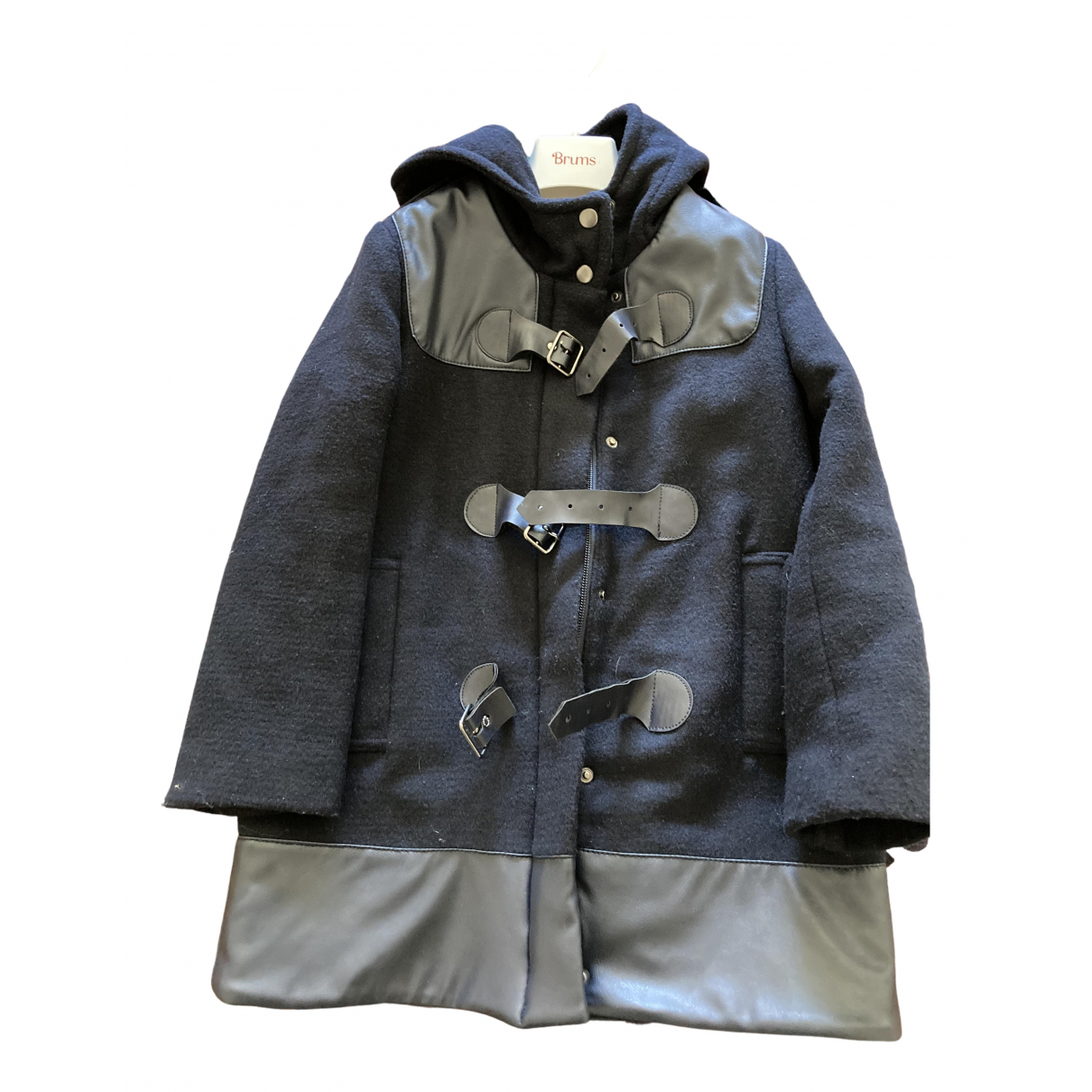 Trussardi \N Jacke, Maentel in  Blau Wolle