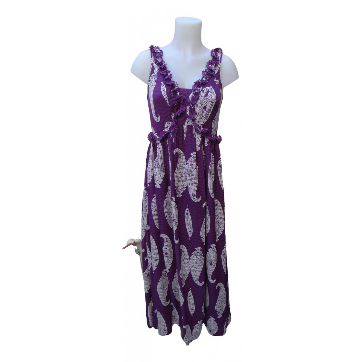 Tory Burch \N Kleid in  Lila Seide